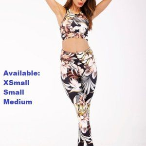 Tropical Floral Leggings w/ matching top